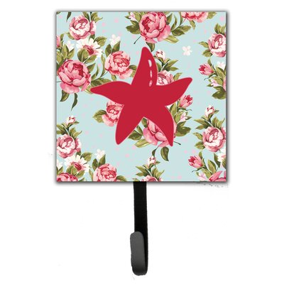Starfish Shabby Elegance Roses Leash Holder and Wall Hook