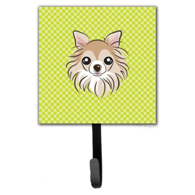 Checkerboard Chihuahua Leash Holder and Wall Hook