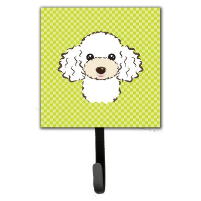 Checkerboard Poodle Leash Holder and Wall Hook