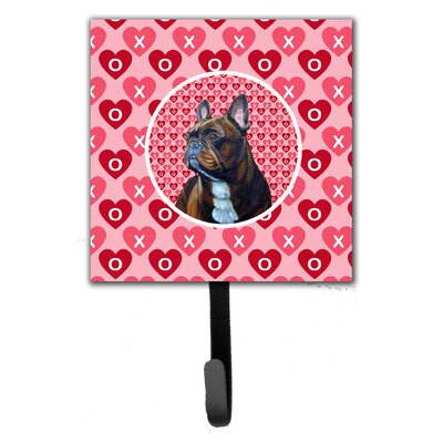French Bulldog Valentine's Love and Hearts Leash Holder and Wall Hook