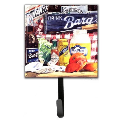 Plate Mayonaise, Barq's and a Tomato Sandwich Leash Holder and Wall Hook