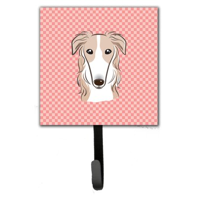 Checkerboard Borzoi Leash Holder and Wall Hook