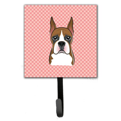 Checkerboard Boxer Leash Holder and Wall Hook