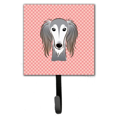 Checkerboard Saluki Leash Holder and Wall Hook