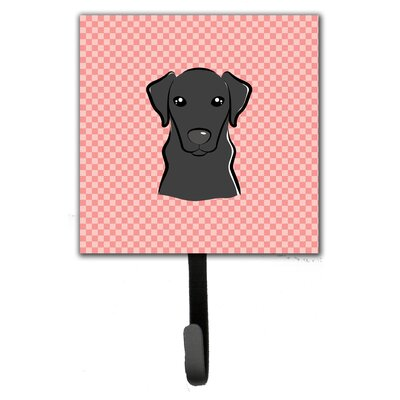 Checkerboard Labrador Leash Holder and Wall Hook