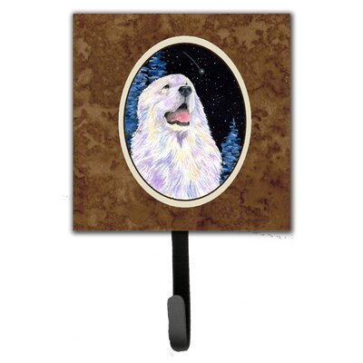 Starry Night Great Pyrenees Leash Holder and Wall Hook