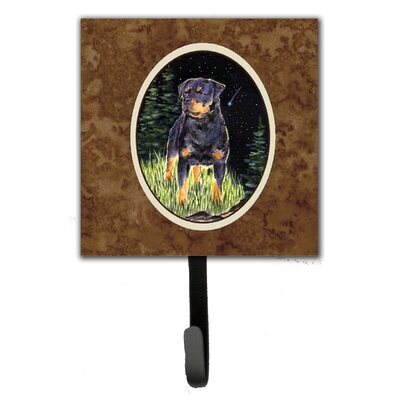 Starry Night Rottweiler Leash Holder and Wall Hook