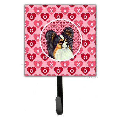 Papillon Valentine's Love and Hearts Leash Holder and Wall Hook