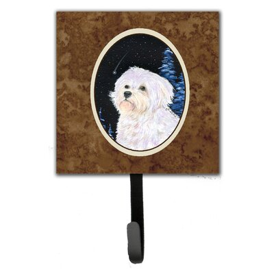 Starry Night Maltese Leash Holder and Key Hook