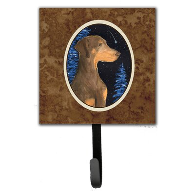 Starry Night Doberman Leash Holder and Wall Hook