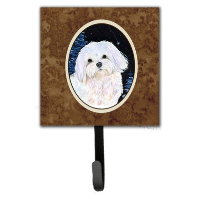 Starry Night Maltese Leash Holder and Wall Hook