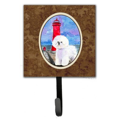 Lighthouse with Bichon Frise Leash Holder and Wall Hook