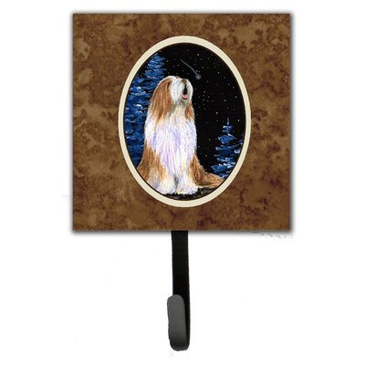 Starry Night Bearded Collie Leash Holder and Wall Hook