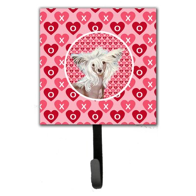 Chinese Crested Valentine's Love and Hearts Leash Holder and Wall Hook