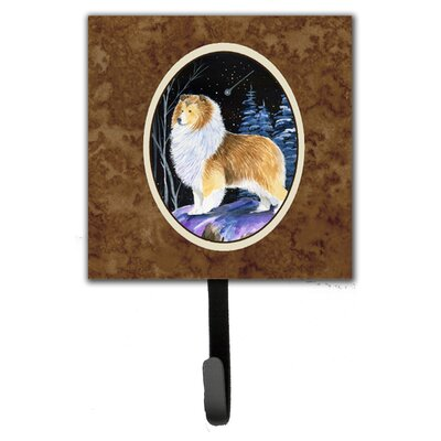 Starry Night Sheltie Leash Holder and Wall Hook