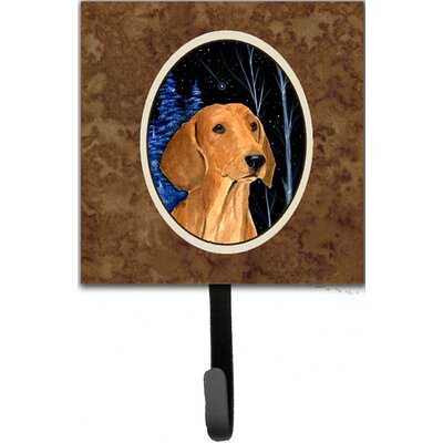 Starry Night Dachshund Leash Holder and Wall Hook