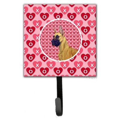 Great Dane Valentine's Love and Hearts Leash Holder and Wall Hook