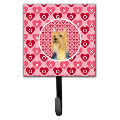 Silky Terrier Valentine's Love and Hearts Leash Holder and Wall Hook