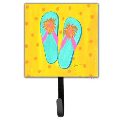Flip Flops Yellow Leash Holder and Wall Hook