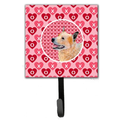 Australian Cattle Dog Valentine's Love and Hearts Leash Holder and Wall Hook