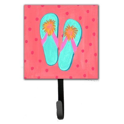 Flip Flops Pink Leash Holder and Wall Hook