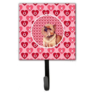 Brussels Griffon Valentine's Love and Hearts Leash Holder and Wall Hook