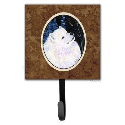 Starry Night Samoyed Leash Holder and Wall Hook