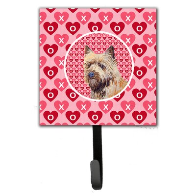Cairn Terrier Valentine's Love and Hearts Leash Holder and Wall Hook