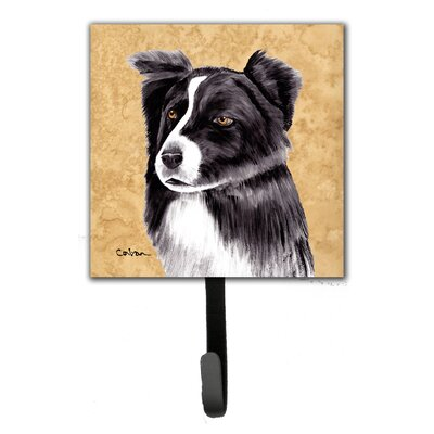 Border Collie Leash Holder and Wall Hook