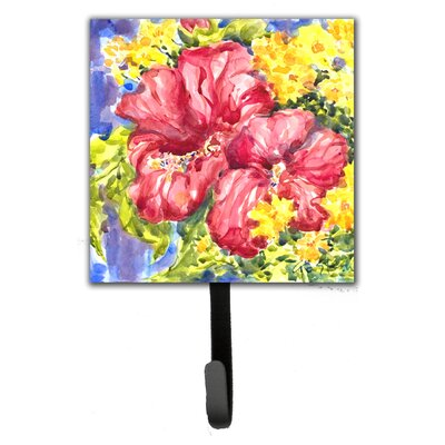 Hibiscus Flower Leash Holder and Wall Hook