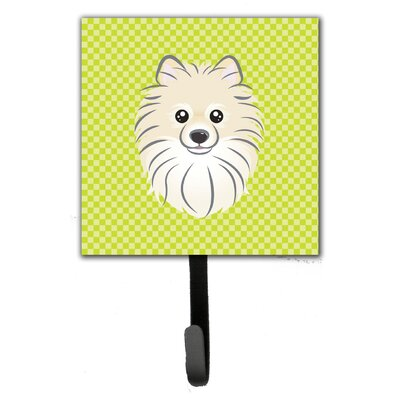Checkerboard Pomeranian Leash Holder and Wall Hook