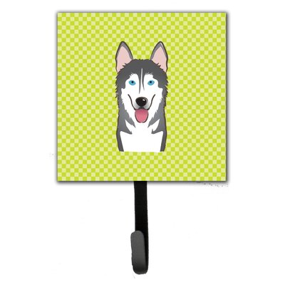 Checkerboard Alaskan Malamute Leash Holder and Wall Hook