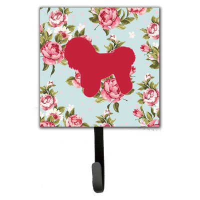 Bichon Frise Shabby Elegance Roses Leash Holder and Wall Hook