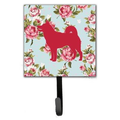 Shiba Inu Shabby Elegance Roses Leash Holder and Wall Hook