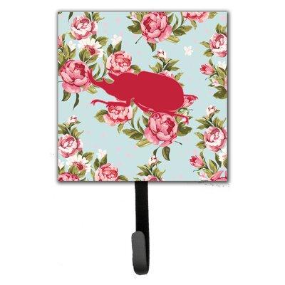 Beetle Shabby Elegance Roses Leash Holder and Wall Hook