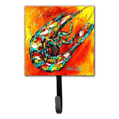 Shrimp Warming Up Leash Holder and Key Hook