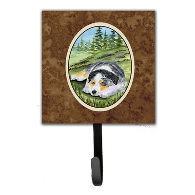 Australian Shepherd Leash Holder and Key Hook