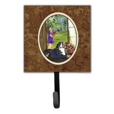 Little Girl with Her Bernese Mountain Dog Leash Holder and Key Hook
