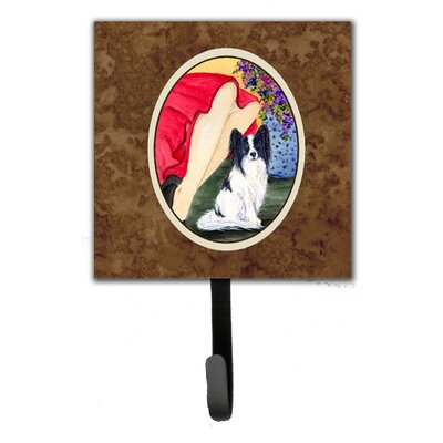 Lady with Her Papillon Leash Holder and Key Hook