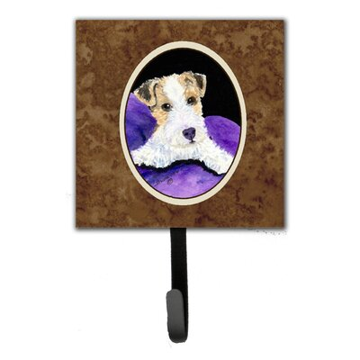 Fox Terrier Leash Holder and Key Hook
