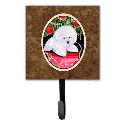 Christmas Tree with Bichon Frise Leash Holder and Key Hook
