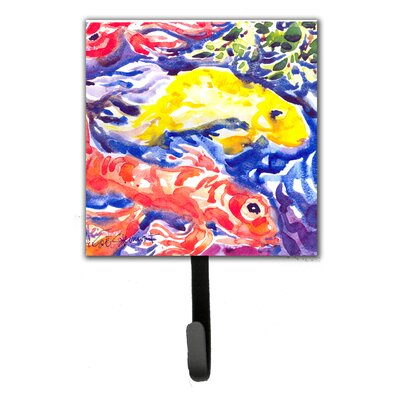 Koi in The Pond Fish Leash Holder and Wall Hook