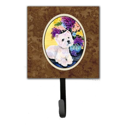 Westie Leash Holder and Key Hook