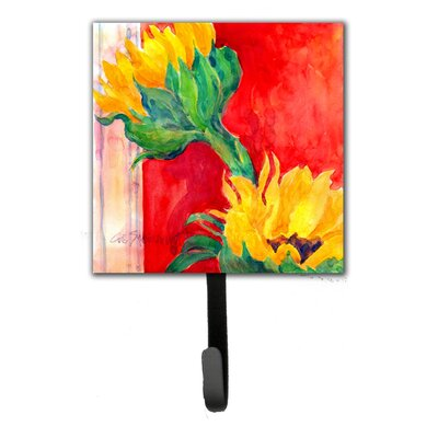 Sunflower Flower Leash Holder and Wall Hook