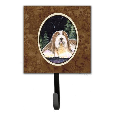 Starry Night Bearded Collie Leash Holder and Key Hook