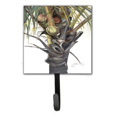 Coconut Tree Top Leash Holder and Key Hook