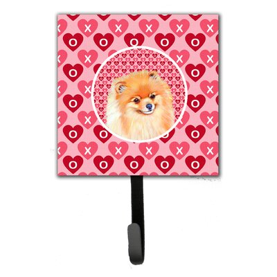 Pomeranian Valentine's Love and Hearts Leash Holder and Key Hook