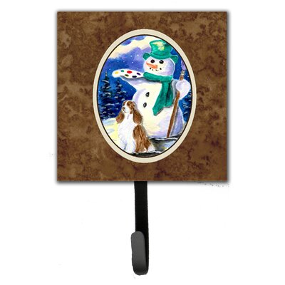 Artist Snowman with Springer Spaniel Wall Hook