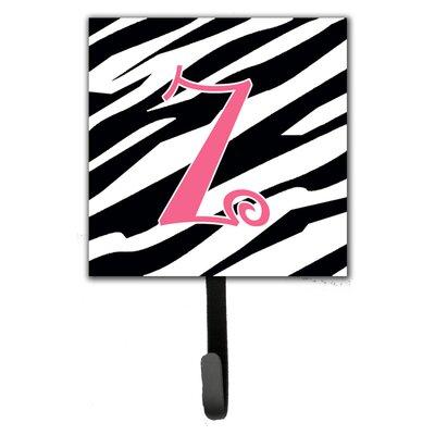 Monogram Zebra Stripe Wall Hook Letter: Z