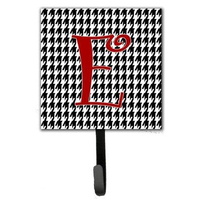 Monogram Houndstooth Wall Hook Letter: E